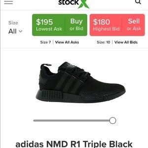 Triple black NMD R1 (used) size 7 1/2